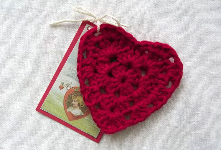 Crochet Granny Square heart