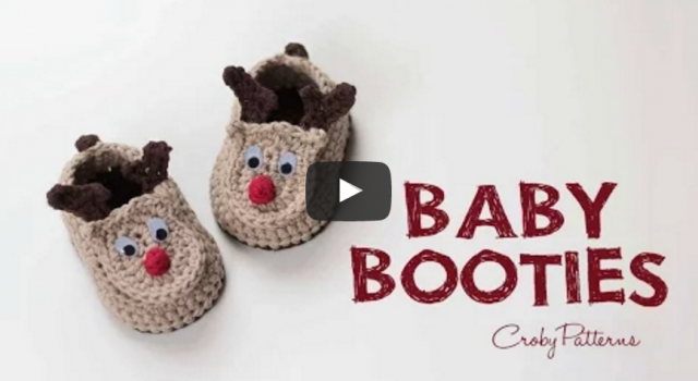 How to Crochet Reindeer Baby Booties