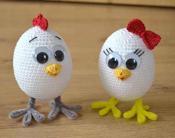 Crochet Easter Chicks And Eggs