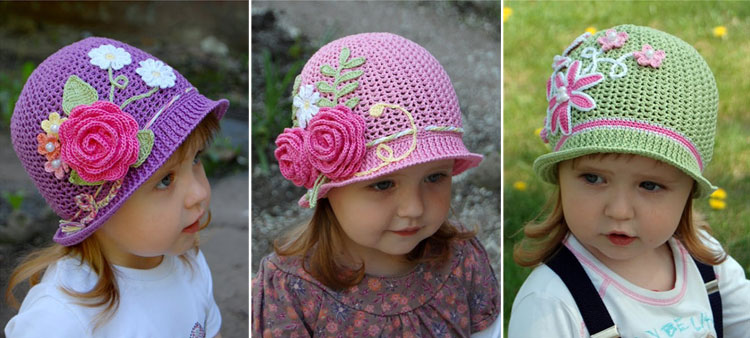 Crochet Girls Spiral Sun hat or Easter Bonnet pattern
