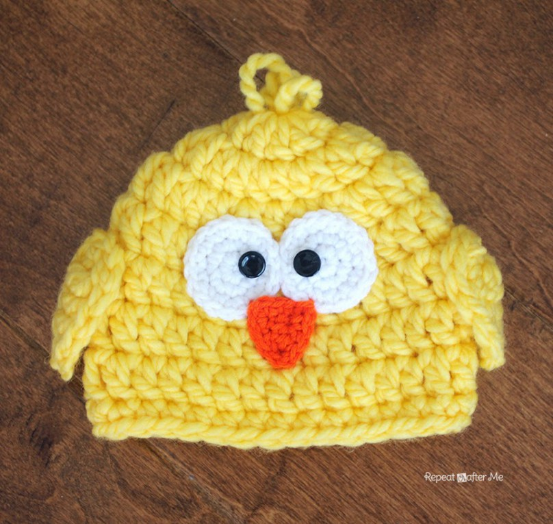 Free Crochet Easter Chick Hat Pattern