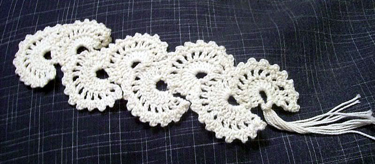 Free Crochet fan Bookmark Pattern