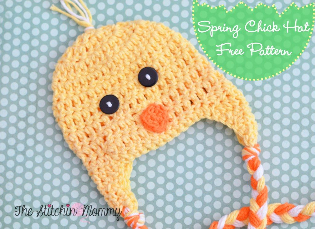 Crochets Kids Baby Easter Chick Hat Free Pattern
