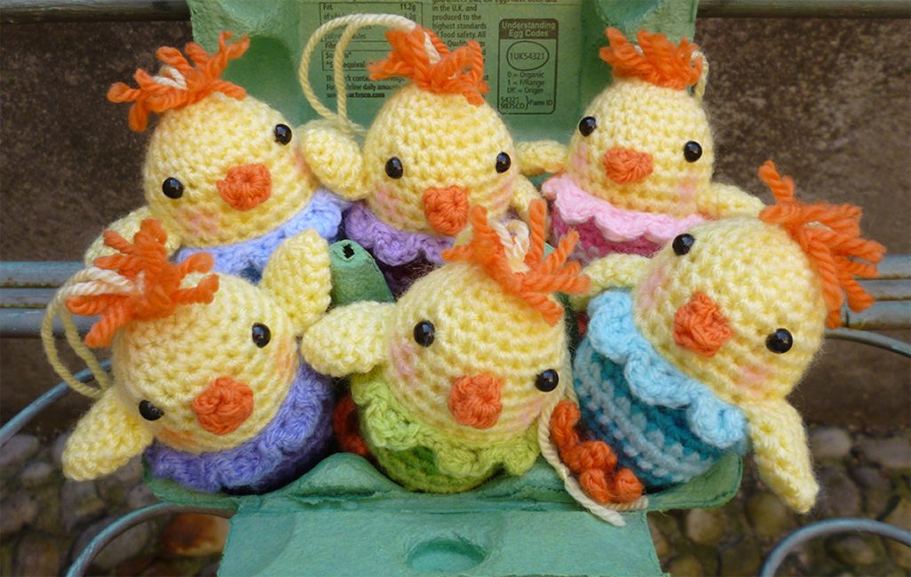 Amigurumi Easter Chick Eggs Free Crochet Pattern