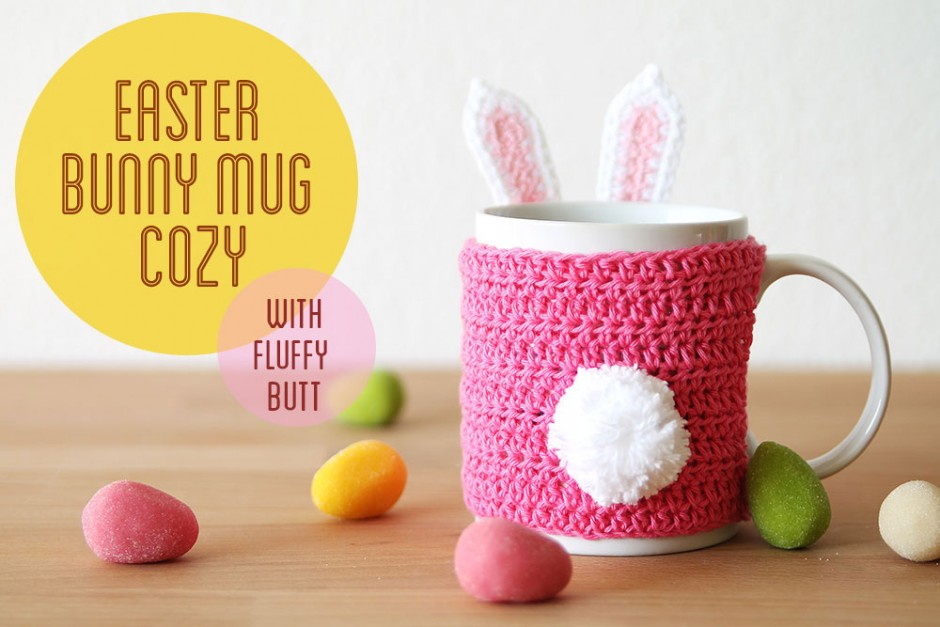 Easter Bunny Mug Cozy Crochet Pattern