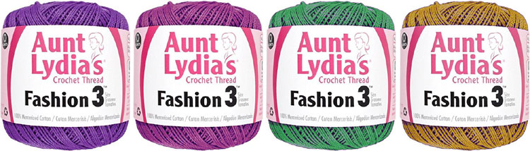 Aunt Lydia's Crochet Mercerized High Luster Yarn