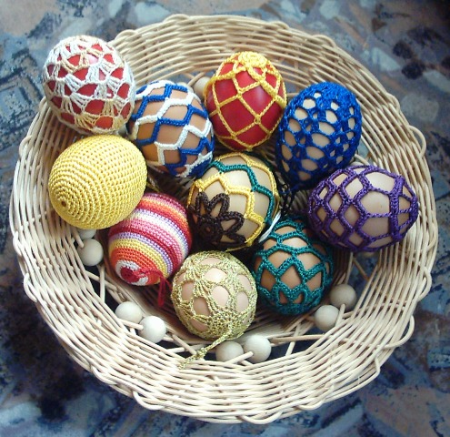 Crochet Art Deco Egg Patterns