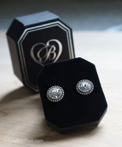 in a beautiful pair of Brighton sparkle earrings