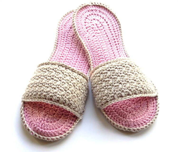 Crochet Spa Slippers, Free Pattern