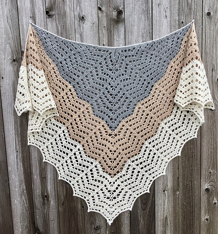 Classic Chevron Lace Crochet Shawl