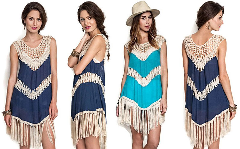 Coachella Bohemian Crochet Fringe Dress