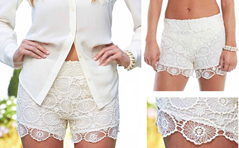 Crochet Lace Shorts Coachella Hippy Bohemian Fashion