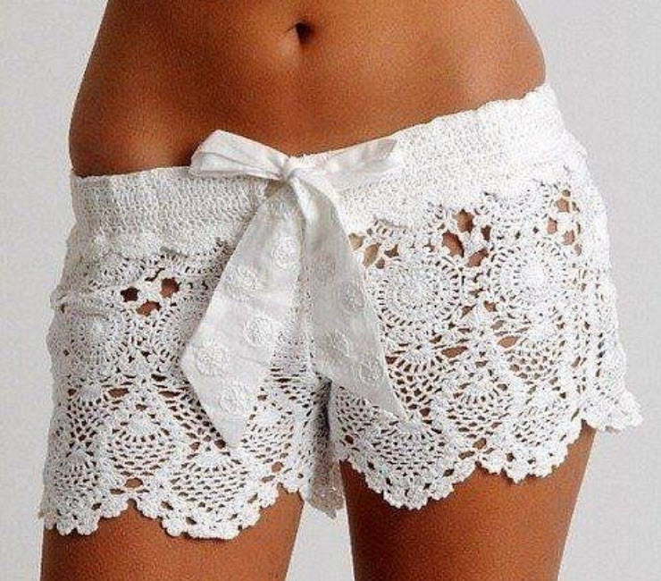 Crochet Shorts Coachella Hippy Bohemian Fashion