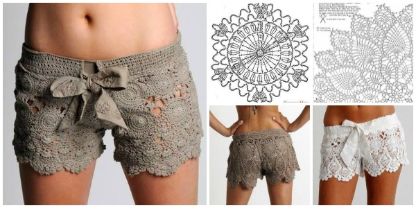 Crochet Shorts Pattern Boho Coachella