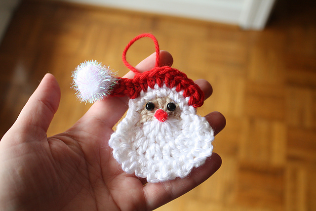 Santa Claus Crochet Ornament