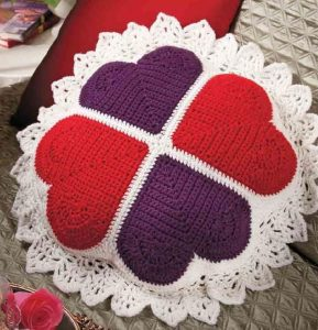 Free Crochet Heart Pillow Pattern