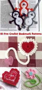 10 Free Crochet Bookmark Patterns at crochetthat.com #crochetthat