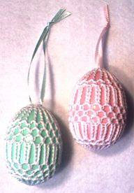 Free Art Deco Easter Crochet Eggs Pattern