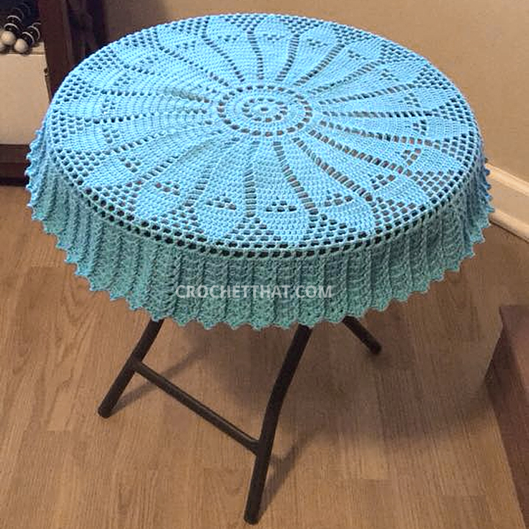 Free Crochet Tablecloth Doily Pattern