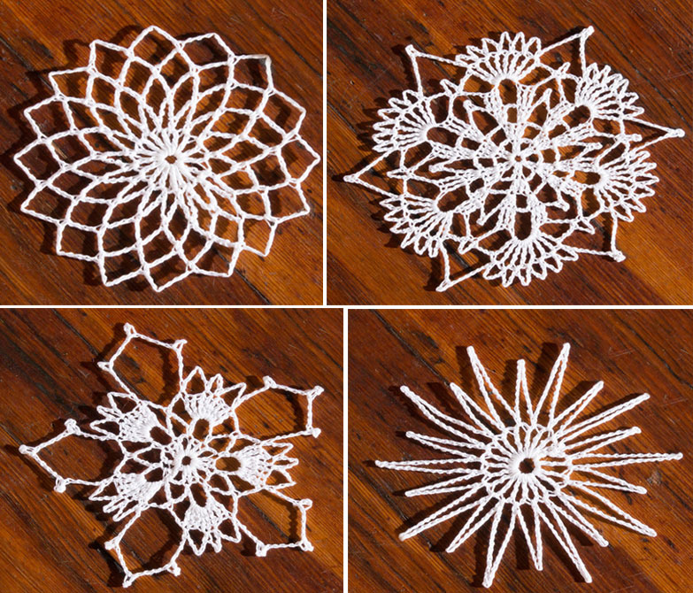Easy Handmade Crochet Christmas Snowflake Ornaments Free Patterns
