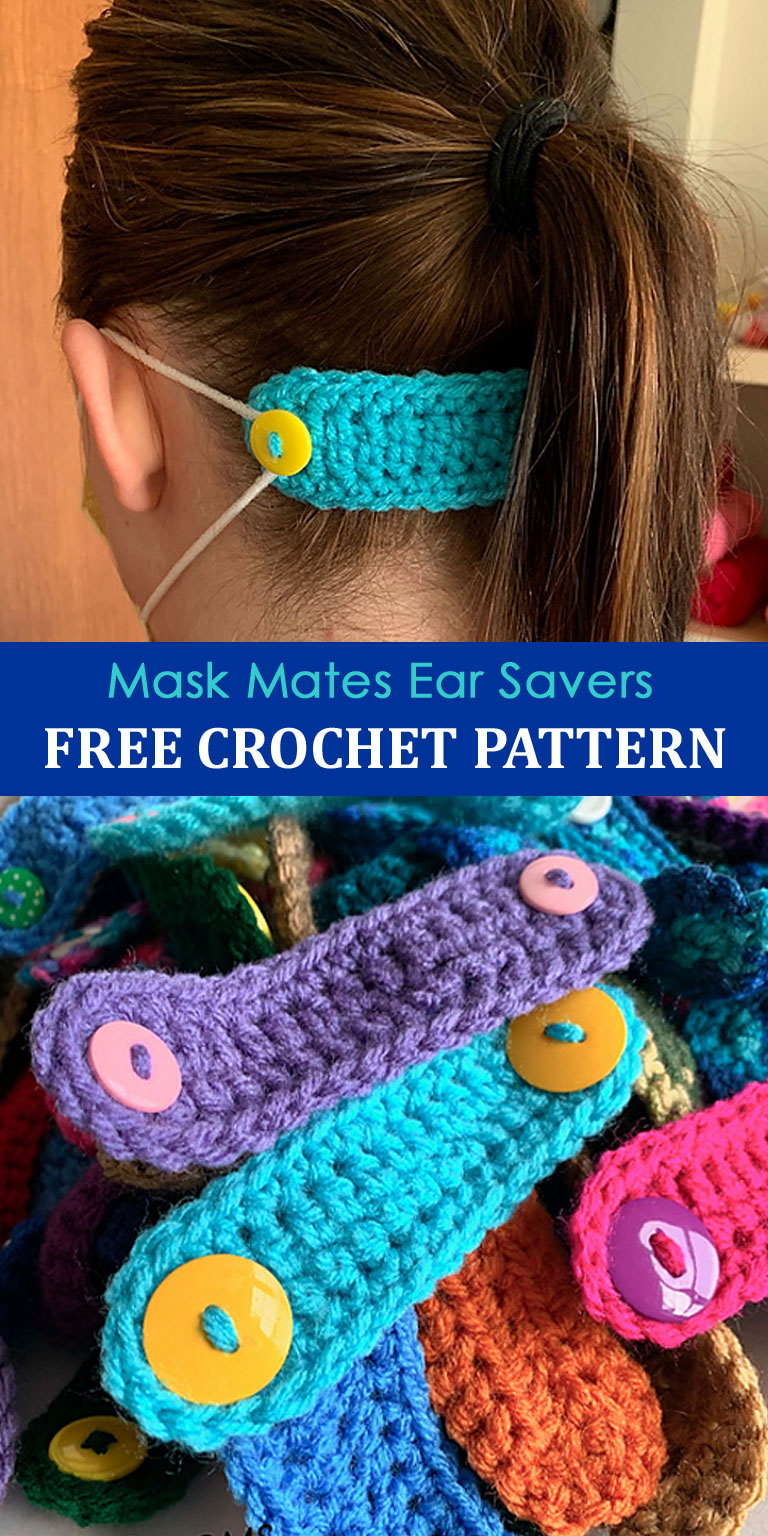 Free Mask Mates Ear Savers Crochet Pattern